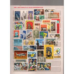 1969 Ano Completo 37 Selos Comemorativos Novos