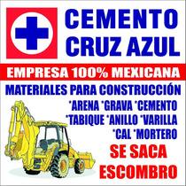 Varilla, Cemento, Mortero, Cal, Yeso, Anillos, Grava, Arena.