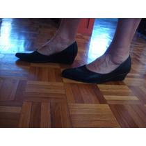 Zapatos Cuero Negro Dama Taco Corrido Ideal Uniforme Nro 36