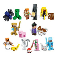 Minecraft Lego 16 Peças Bonecos Icônicos Do Game