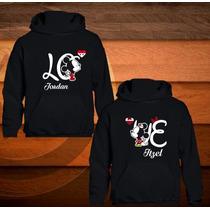 2 Sudaderas Personalizadas De Mickey Y Minnie Love