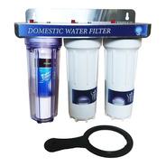 Filtro Purificador Agua 10 Pulgadas Conexion De 1/2 3 Etapas