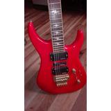 Guitarra Eléctrica Roja Hyundai Usada Con Floyd Rose 90s
