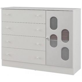 Cômoda Infantil Canaã New Allegro 1 Porta - Shop Tendtudo