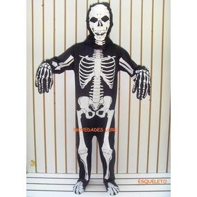 Disfraz Esqueleto Calaca Calavera Muerte Niños Carnaval