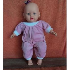Boneca Antiga Bebê Da Estrela Fala Frases Macacão Rosa (g11)