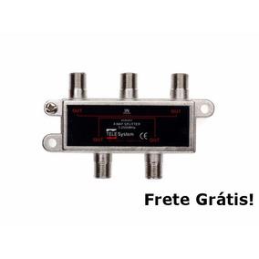 Chave Divisora De Alta Frequência 4x1 Sat Uhf Vhf