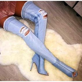 Bota Jeans Claro Kardashian Salto Fino - Sob Medida
