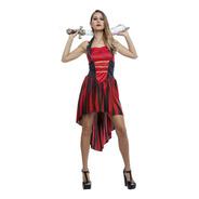 Disfraz Pirata Roja Mujer Halloween Disfraz Fiesta