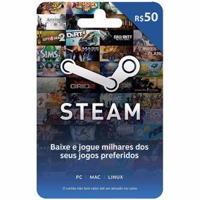 Gift Card Steam - Cartão Pré-pago R$ 50 Reais De Crédito