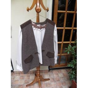 Traje (pantalón Y Chaleco) Con Blusa De Señora