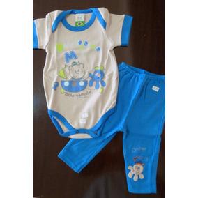 Conjunto Body+calça Bebê Menino Bicho Molhado