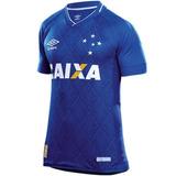 543ca68615 Camisa Juvenil Jogo 1 Cruzeiro Umbro 2017 Azul Original