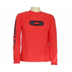 Camisa Oakley Manga Longa, Quatro Cores Disponiveis..