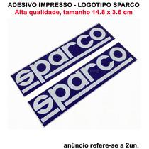 Adesivo Sparco Promocional - Tamanho 14.8 X 3.6cm (2unid)