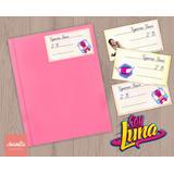 Soy Luna Etiquetas Escolares Imprimibles Plancha A4 Stickers