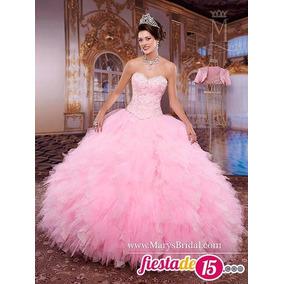 Vestido De Quinceaños Con Hermosa Decoracion Color Rosado