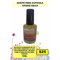 Aceite Cuticula Studio Nails Uñas 15ml