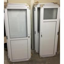 Puerta De Aluminio De 900 X 2000 50% De Vidrio De 4.2 Mm