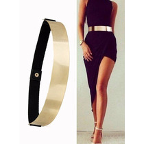 Cinturón Metálico Dorado Fashion Accesorio De Moda Ajustable