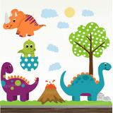 Adesivo Infantil Dinossauro Zoo Safari Decorativo 08