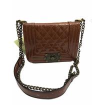 Mini Bolsa Feminina Leboy Verniz 18.5cmx7cmx14c
