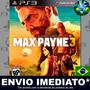 Max Payne 3 - Ps3 - Legendas Em Português - Código Psn