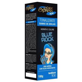 Kit Tonalizante Color Express Fun Salon Line Blue Rock 100g