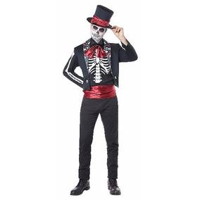 Disfraz Catrin Traje Dia De Los Muertos Halloween Calavera