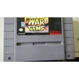 Fita Super Nintendo War Gems Original