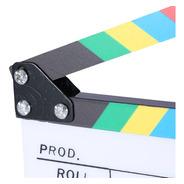Claqueta Colores 25 X 30 Cm Para Director Cine Acrílico