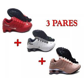Tênis Nike Shox 4 Molas Nz Se Prm Eu Originals 3 Pares