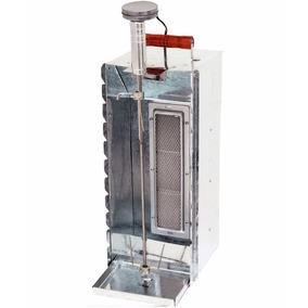 Churrasqueira Gás Rotativa Portátil Giratória 10 Espetinhos