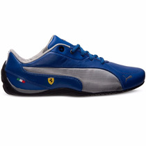 2014 Tenis Puma Drift Cat 5 Ferrari Team Blue Silver Low Gym