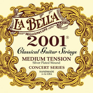 La Bella 2001 Medium Guit. Clasica Nylon Plata/transparente