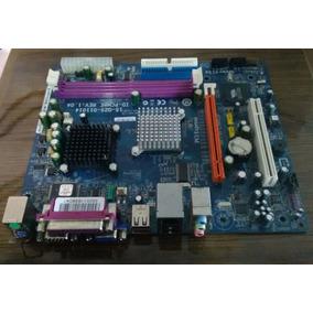 Placa Mãe Phitronics Com Processador Integrado 1.6ghz Ddr2