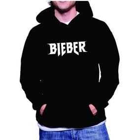Blusa De Frio Canguru De Moletom Justin Bieber + Brinde
