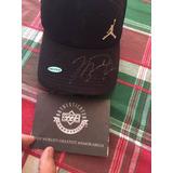Gorra Original De Michael Jordan, Con Autografo Y Certificad