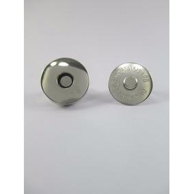 Botão De Imã (imantado) Prateado - 18mm - 20 Unidades