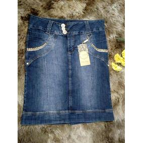 Promoção Saia Audácia Jeans Tam 48