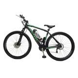 Bicicleta Elétrica Machine Motors Legend 350w 36v Preto/verd
