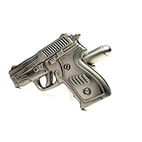 Mancuernillas Figura De Pistola Revolver Policia 908