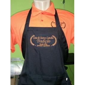 Avental Personalizado Bordado Com Seu Logo ,festas,foodtruck