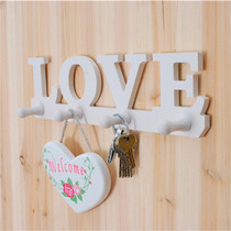 Llavero Perchero Porta Llaves Con Palabra Love Blanco H4079