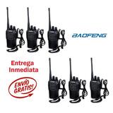 6 Radios Baofeng Bf-888s Walkie-talkie Uhf 400-470 Mhz
