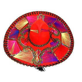 Sombrero Rojo Mexicano Charro Mariachi Sombrero Con Bor. 1aa3aa7b138