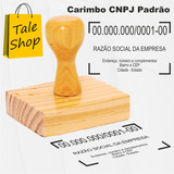 Carimbo De Madeira Personalizado Cnpj Assinatura