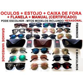 10 Óculos Insp Rayban +estojo+flanela+manual.pd Escolher 7000ac29a7