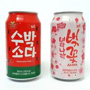 Kit 02 Refrigerantes Coreanos Melancia E Flor De Cerejeira