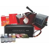 Estampadora Tazas + Impresora Epson + Tinta Sublimación Ocp
